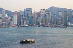 Hong Kong: Star Ferry between Hong Kong Island, Kowloon Stock Image