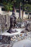 Hong Kong. Statue of Confucius in the Park. Stock Photos