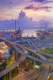 Hong Kong Stonecutters' Bridge Stock Photos