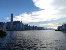 Hong Kong from strarferry Royalty Free Stock Photography