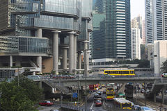 Hong Kong street. Scene on a sunny day, China Royalty Free Stock Photography