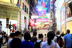 Hong Kong street Royalty Free Stock Images