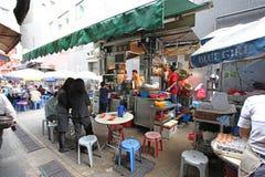 Hong Kong street food cafe Royalty Free Stock Images