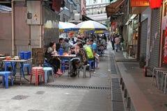 Hong Kong street food cafe Stock Image