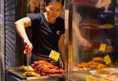 Hong Kong Street Food Vendor lizenzfreie stockfotos