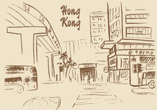 Hong Kong street Royalty Free Stock Image