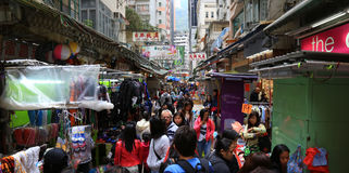 Hong Kong street market. royalty free stock photography