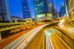 Hong Kong street at night Royalty Free Stock Image