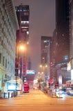 Hong Kong street night view Stock Image
