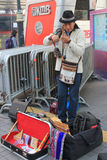 Hong Kong street performer Royalty Free Stock Images