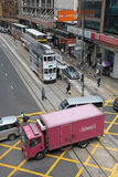 Hong Kong street traffic cross road Stock Image