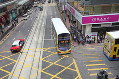 Hong Kong street traffic crossroad Royalty Free Stock Image