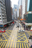 Hong Kong street traffic Royalty Free Stock Photos