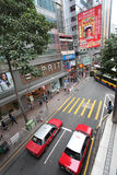 Hong Kong street traffic Royalty Free Stock Images