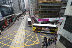 Hong Kong street traffic Royalty Free Stock Photography