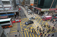 Hong Kong street traffic Royalty Free Stock Photo