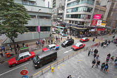 Hong Kong street traffic Stock Images
