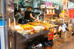 Hong Kong Street Vendor Stock Photography