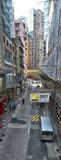 Hong Kong Street View. From the Central-Mid-levels escalators in Central, the downtown area of Hong Kong Stock Photography