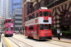 Hong kong streetcar Royalty Free Stock Photos