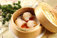 Hong Kong-style dim sum  Prawn dumplings Stock Photos