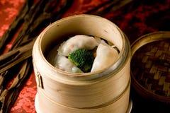 Hong Kong-style dim sum Shrimp dumplings. Asia-style dim sum  Prawn dumplings.chinese food dim sum Shrimp dumplings Royalty Free Stock Photos