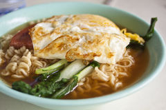 Hong Kong style instant noodles Stock Photo
