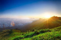 Hong kong sunrise Stock Photography