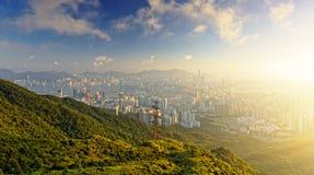 Hong kong sunrise Stock Photos