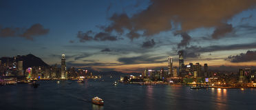 Hong Kong Sunset Stock Photo