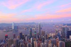 Hong Kong at sunset Royalty Free Stock Images