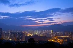 Hong Kong sunset Royalty Free Stock Image