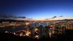 Hong Kong Sunset Immagine Stock