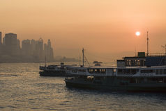 Hong Kong Sunset Royaltyfria Foton