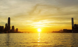 Hong Kong Sunset Royalty Free Stock Photo