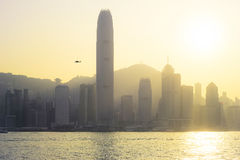 Hong Kong at sunset Stock Photos