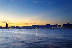 Hong Kong Sunset Royalty Free Stock Photo