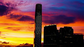 Hong Kong Sunset stock footage