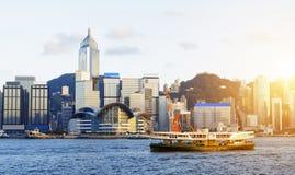 Hong kong sunset Royalty Free Stock Image