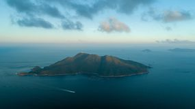 Hong Kong Sunset Tung Lung Island. Hong Kong Sunset Po Toi O and Clear Water Bay Drone View! Sun Stock Image