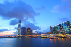 Hong Kong sunset view at Kowloon district Stock Photos