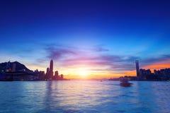 Hong kong sunset Stock Photography