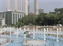 Hong Kong Swimming Pool. Royalty Free Stock Photo