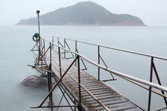 Hong kong Swimming Shed in sea Stock Photo