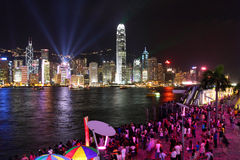 Hong Kong: Symfonia Światła Fotografia Stock
