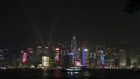Hong Kong : Symphony of Lights. This spectacular multimedia display, already named the 'World's Largest Permanent Light and Sound Show' by Guinness World Records stock video