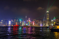 Hong Kong Symphony of lights stock photo