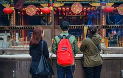 Hong Kong syndar tai-tempelwong Royaltyfria Foton
