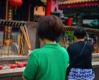 Hong Kong syndar tai-tempelwong Arkivfoto