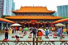 Hong Kong syndar tai-tempelwong Arkivbilder